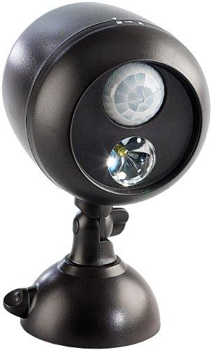 Lunartec LED Strahler Batterie: Kabellose Außenleuchte mit PIR-Bewegungssensor, 1W-LED, 70 lm, IP66 (Bewegungsmelder ohne Strom)
