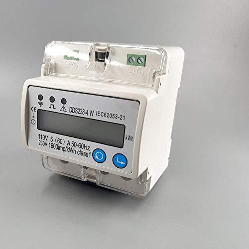DisyuntorWiFi5 (60) Un medidor de energíaWiFimonofásico de 110V 230V 50Hz 60Hz para fuentes de alimentación de riel Din con protección contra sobretensión y subtensión E1957E-With_out_antenna