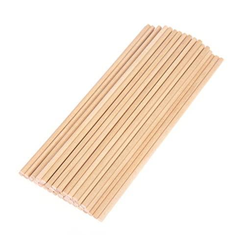QXLG Manuel 50 pcs Ronds bâton en Bois et Maquillage pour l'artisanat Alimentaire Bois utile pour la Maison Produit en Bois (Color : 15x0 5cm)