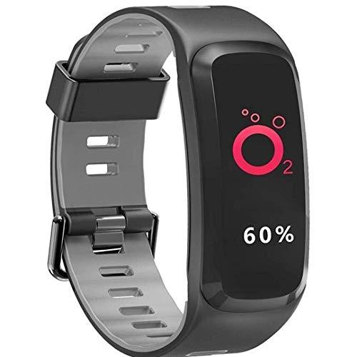Smart Smartwatch, kleurendisplay, intelligente armband, zuurstof, bloeddruk, bloeddrukmeter, hartslagmeter, fitness, Smart polsband voor iOS/Android Smart armband (, grijs.