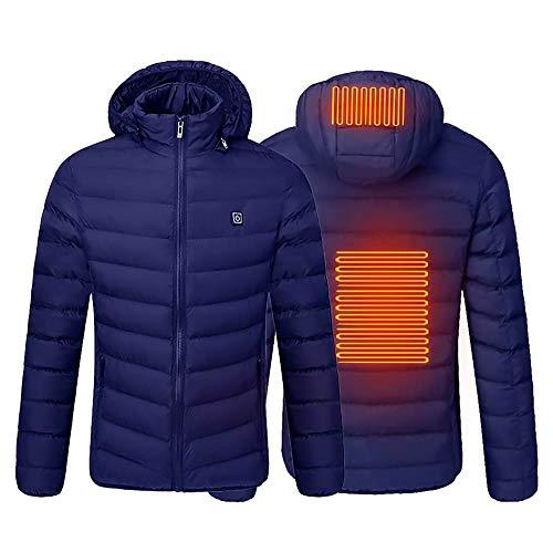 thymeflower Chaleco eléctrico calentado por USB, chaqueta calefactora, lavable y ligero, calentador de cuerpo para invierno, esquí, motocicleta, senderismo, pesca, golf con 3 engranajes ajustables