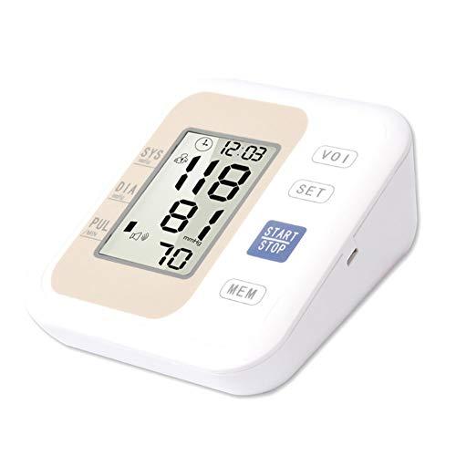 AFANG Tensiómetro Brazo Digital Detección Pulso Arrítmico, Cómodas Precisas Transmisión Voz Esfigmomanómetro, Herramienta Profesional Portátil Doméstico Familiar,B