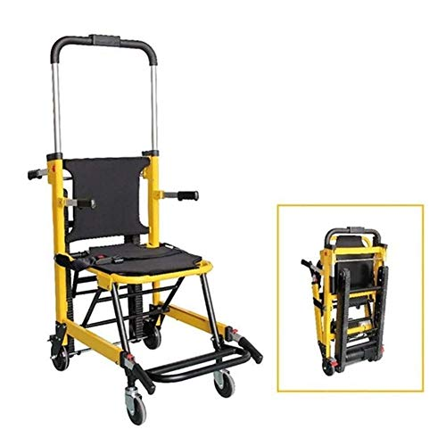 LRX Transferhilfen Treppen-Schiebebrett Stair Chair Notevakuierung Leichtgewichtler Ambulance Medical Aufzug Treppe Stuhl mit Schnellverschlüssen 180Kg Kapazität