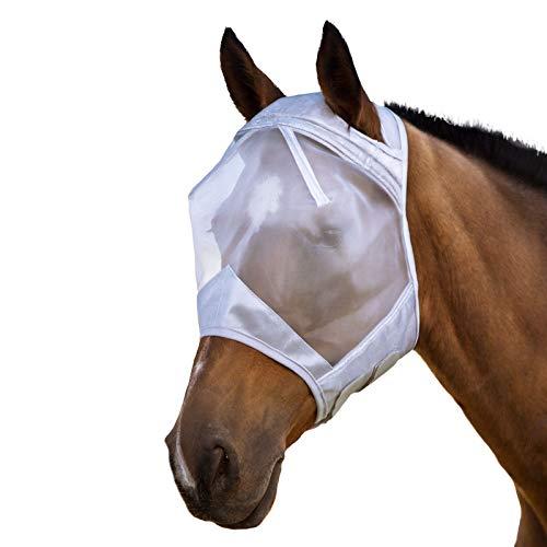 Harrison Howard Fliegenmaske für Pferde, Unisex, Balck Horseware, Silbergrau, klein (Pony)