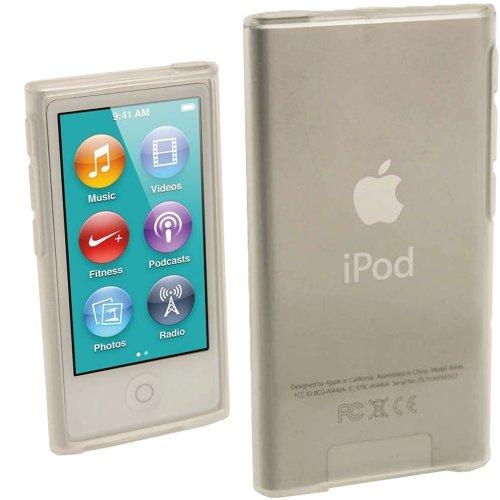 iGadgitz U2009 Custodia TPU Gel Case Cover Rigida Compatibile con Apple iPod Nano 7ª Gen Generazion con Protettore Schermo - Trasparente