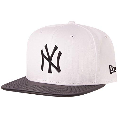New Era Snapback Cap - RUBBER NY Yankees blanc