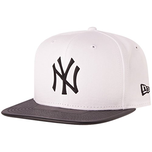 New Era Snapback Cap - RUBBER NY Yankees blanc