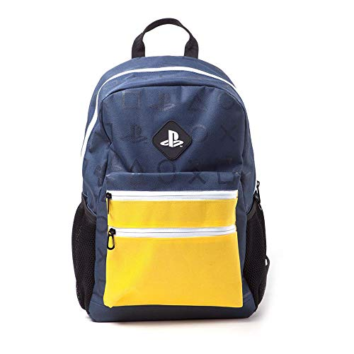 Playstation Colour Block Backpack Rucksack 41 Centimeters 20 Blau (Navy Blue)