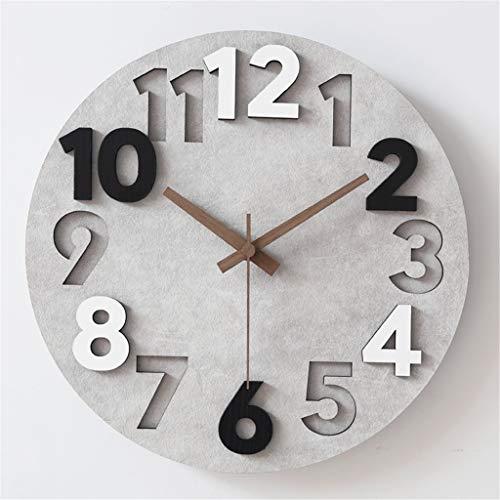 Clock-ZKang SiiZQ-horloge, stereo-horloge, digitaal uurwerk met driedimensionale gravure Dial klok met wekker camera Studio Muto Decoratie 12/15 inch