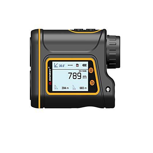 Laserafstandsmeter 800-1500m, USB, meervoudige modus met 6-voudige vergroting, afstandmeting, gegevens automatisch opslaan, stof- en waterbescherming, 1500M