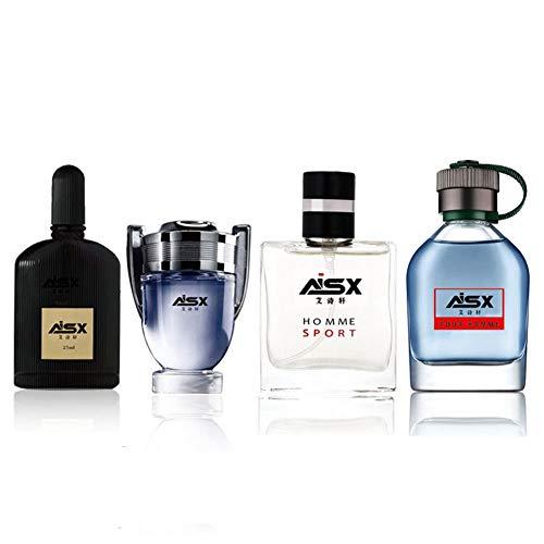 Agua de Perfume para Hombre de 4 * 25 ml: 4 fragancias diferentes, respira un estilo personal imparable, es un regalo ideal para tu padre, novio u otro amigo Regalo de navidad (#1)