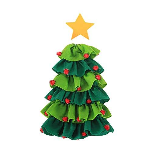 Monllack - Juego de botellas de vino tinto de cinco estrellas, diseño de árbol de Navidad