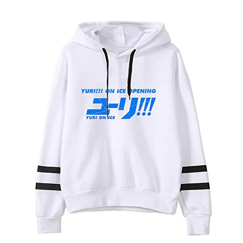 Yuri on Ice Pullover Sweat à Capuche Populaire Populaire Pull à Capuche imprimé Pull de Sport en Vrac Unisexe (Color : White02, Size : M)