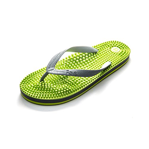 Revs Light Flip Flop, Fussreflexzonenmassage Massage Flip Flops by Kenkoh Europe, Grün Grau EU39.5