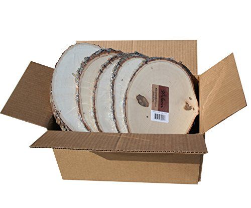 Basswood Plaque (Round/Oval) Bulk Quantity Value Box (Medium (7-9 inch Diameter) Pack of 10)
