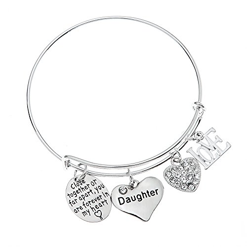 Daughter Bracelet- Daughter Jewelry- Never Far Apart - Perfect Gift for Daughters