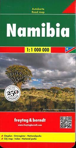 Namibia, Autokarte 1:1 Mio.: Wegenkaart 1:1 000 000 (freytag & berndt Auto + Freizeitkarten)