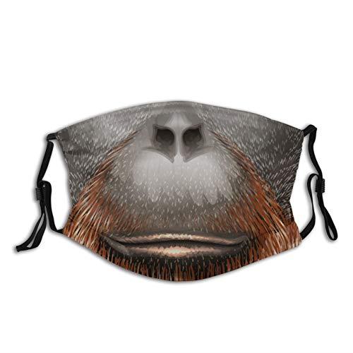 Chimp Orangutans Gorilla Dog - Filtro facial ajustable reutilizable para adultos y niños