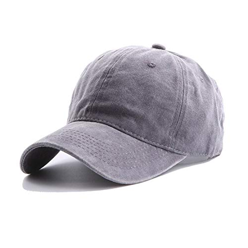 Eohak Kids Distresed-Washed Baseball Hat Infant Toddler Baby Boy Cotton Hats Distresed for 2-8 Years Light Grey