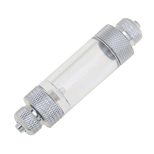 MagiDeal Contador de Burbujas de CO2 de Acuario de Aluminio Difusor de CO2 en Línea con Válvula de Retención 2 Tipos - Doble