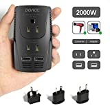Best Voltage Converters - Upgraded DOACE C11 2000W Travel Voltage Converter Review