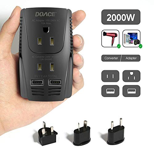 Our #1 Pick is the DOACE 2000W Voltage Converter