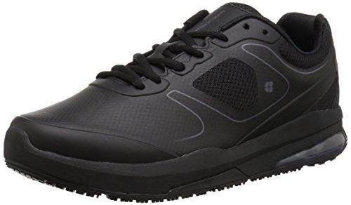 Shoes for Crews Men's Evolution II Slip Resistant Food Service Work Sneaker, Black, 9 Wide US