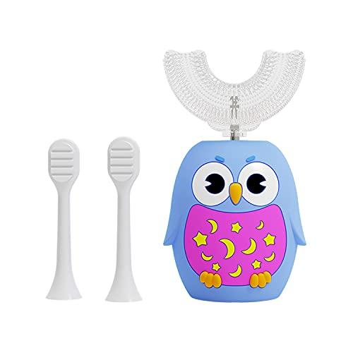 Kids Electric Toothbrush,U Shape Whole Mouth Baby Toothbrush, 360 Ultrasonic Autobrush Kids Toothbrush, Age 2-12, Blue