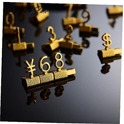 Bontannd Estanterías De Metal Ajustable Precio Callouts Mostrar Precio Euro Libra Precio Numeral Asamblea Cubos Lable Bloques Palo ✅