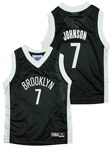 Brooklyn Nets NBA Little Boys Joe Johnson #7 Dazzle Black Jersey