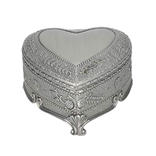 Small Storage Box, Alloy Simple Embossmed Pattern Jewelry Box, Electroplating Storing Small Items Office Use for Home Decoration Ring Earrings