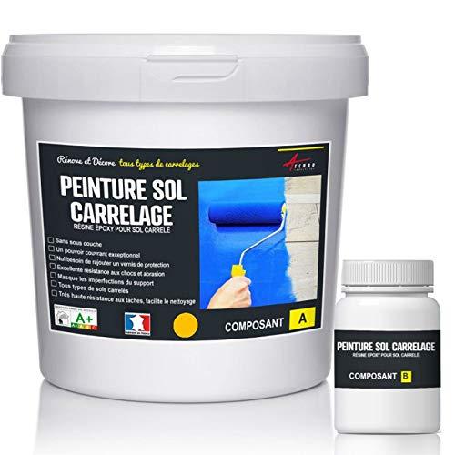 Peinture carrelage sol - Résine pour recouvrir faïence et carreaux - PEINTURE CARRELAGE - RAL 1023...