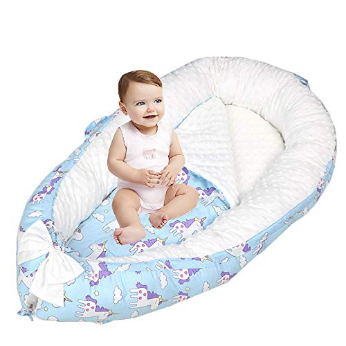 Save %22 Now! Brandream Baby Nest Bed Unicorn, Baby Newborn Baby Lounger Bassinets Bed, Organic Cott...