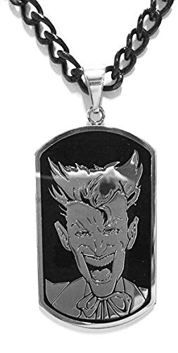 Toy Zany DC Comics Laughing Joker Stainless Steel Dog Tag Necklace