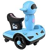 YIQIFEI Los niños viajan en el Coche de Juguete Robot Espacial Vehículo de Equilibrio Moto para niños Motocicleta Scooter eléctrico Motor Bicicleta 6V Batería O (Coche RC)