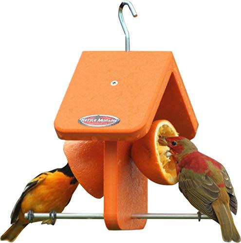 Kettle Moraine Recycled Single Oriole Orange Fruit Feeder
