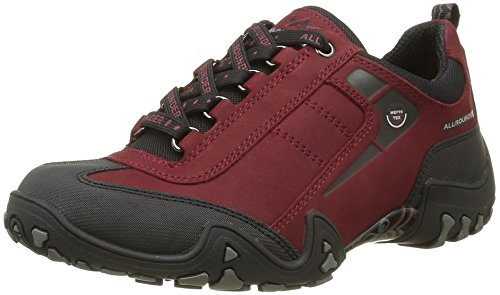 Allrounder by Mephisto Damen FINA-TEX Sneakers, Rot (BLACK/MID RED), 41.5