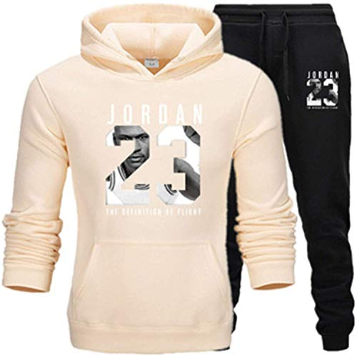 Jersey de Baloncesto # 23 Michael Jordan Bulls Uniform Traje de chándals Sportswear Suitching Color Color Hoodie Pantalones Pantalones Fanáticos Entrenamiento Jerseys, Cómodo