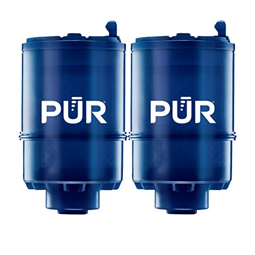 PUR RF9999 Mineral Clear Faucet Water Filter Replacement for Filtration Systems, 2 Pack, Blue