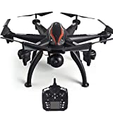 Goolsky L100 Drone 2.4G 720P Wide-Angle WiFi FPV Camera 6-axis GPS Drone Auto Follow RC Hexacopter Drone for Adults Kids