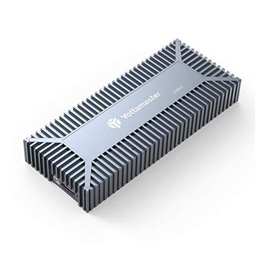 Yottamaster USB4.0 NVMe M.2 SSDケース 雪の華デザイン 高放熱 40Gbps超高速 Thunderbolt 3/4 USB3.2/3.1/3.0互換性あり ポータブル SSD外付けケース アルミニウム製 グレー[SO3-C4]