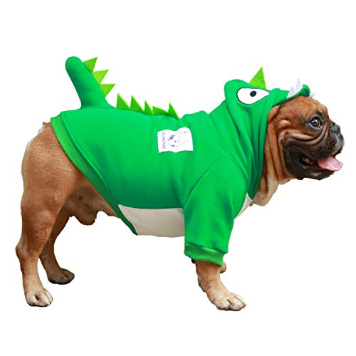 iChoue Dragon Dog Costumes Hoodie Warm Coat Winter Clothes for English Bulldog Bully Pitbull...