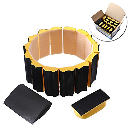 Best Deals! Hvlystory 16Pcs Sanding Pad 40x100mm Shaped Hand Sanding Block Disc Grinding Sponge For ...