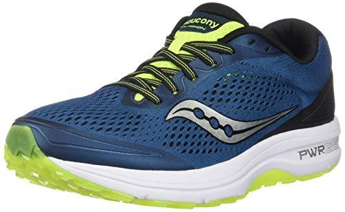 Saucony Clarion, Zapatillas de Running para Hombre, Azul (Marine/Citron 2), 43 EU