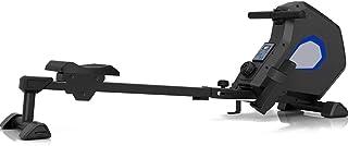 Fitness Deluxe hopfällbar magnetisk roddmaskin med 8 motståndsinställningar och transporthjul med Bluetooth