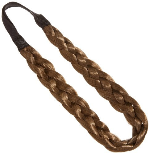 Love Hair Extensions Doppel-Braid Band (Flecht-Haarband) Farbe 8 - Mausbraun, 1er Pack (1 x 1 Stück)