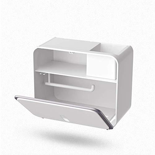 N / B Caja de Tejido montada en la Pared, Caja de Almacenamiento de baño, Gran Capacidad, Doble Almacenamiento, Impermeable, adherencia Fuerte, rodamiento Fuerte