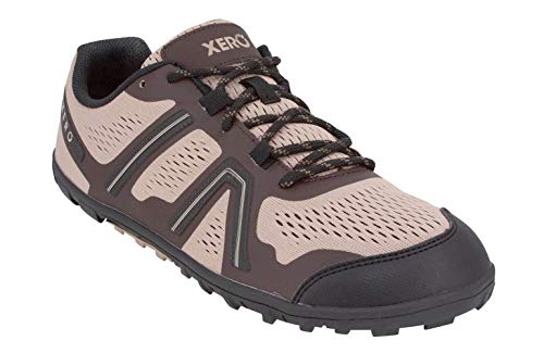 Xero Shoes Mesa Trail - Men's Lightweight Barefoot-Inspired Minimalist Trail Running Shoe. Zero Drop Sneaker Desert Brown