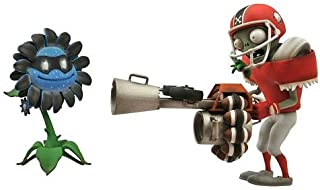 Plants vs. Zombies 2-pack Action Figures - Shadow Flower vs. All-Star Zombie