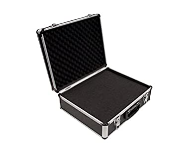 PeakTech 7305 – Estuche universal para dispositivos de medición, robusto, almacenamiento de herramientas, relleno de espuma, con cerradura, protección contra el polvo, L - 405 x 330 x 150 mm
